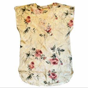 VTG California Dynasty Ivory Mauve Rise Nightgown